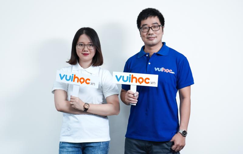 Hai nhà đồng sáng lập của VUIHOC: Ông Đỗ Ngọc Lâm – CEO và bà Đỗ Minh Thu – COO