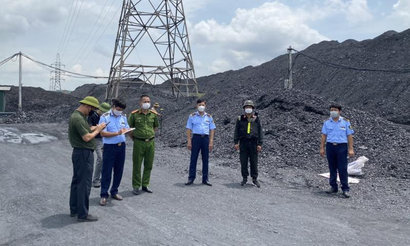 Trong số các bãi than bị lực lượng chức năng kiểm tra có những bãi rộng hàng chục ha