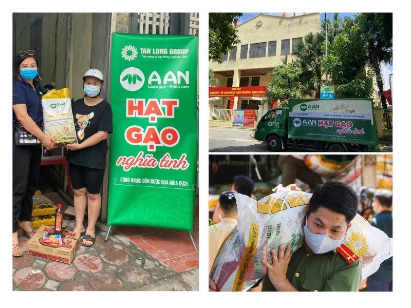 Chương trình tặng gạo cho người dân nghèo của gạo A An tại Hà Nội.
