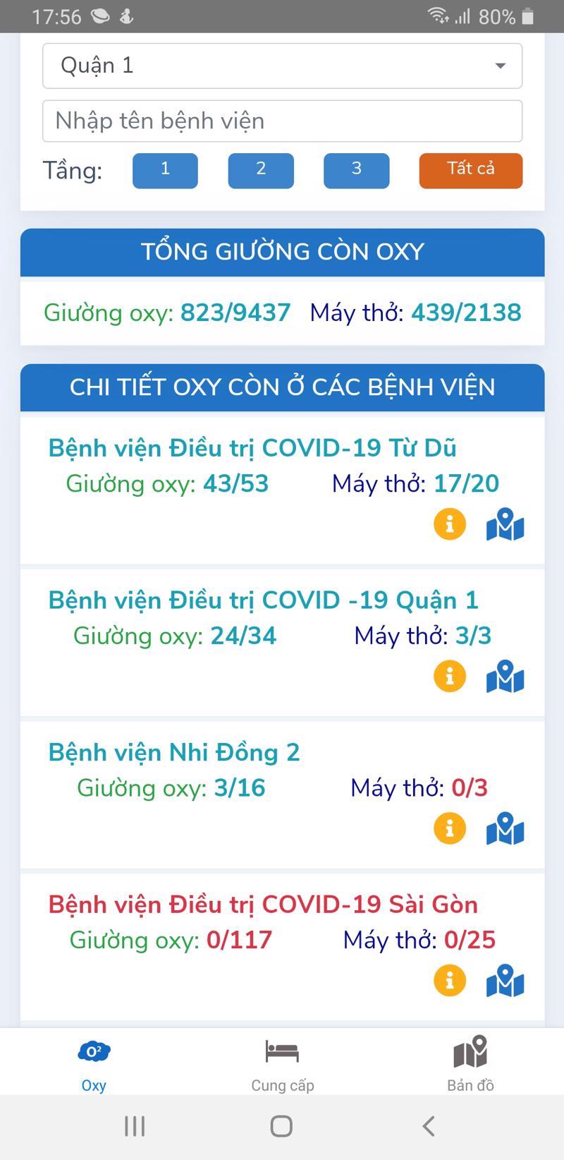 TP.HCM triển khai ứng dụng Oxy247 cấp cứu, tìm giường oxy cho bệnh nhân Covid-19.