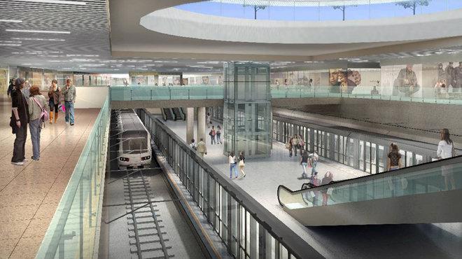 Phối cảnh khu mua sắm ngầm và nhà ga tuyến metro số 1 tại nhà ga trung tâm Bến Thành - Nguồn: MAUR.