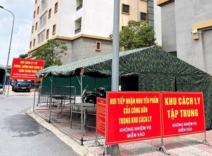 Khu cách ly tập trung 500 người tại phường Kim Giang - Ảnh sưu tầm
