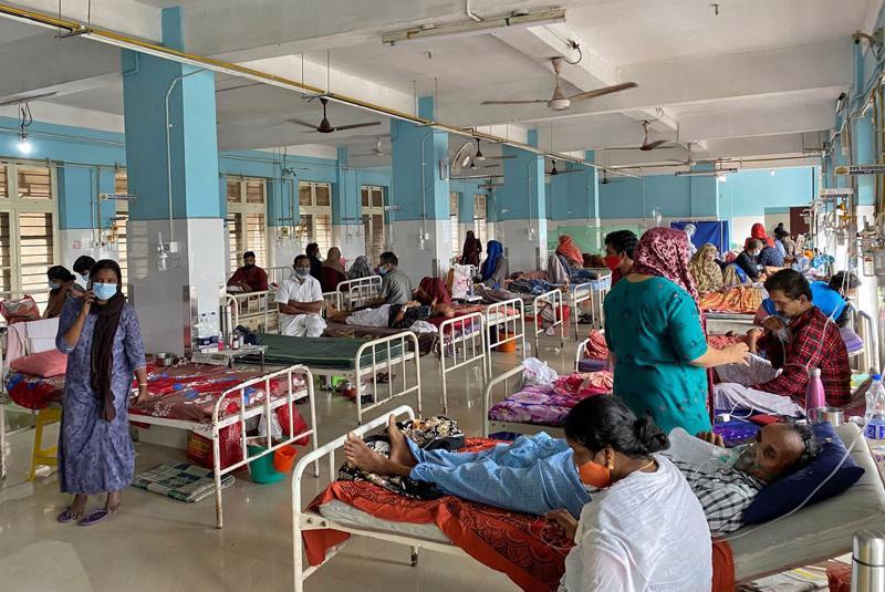 Một khu điều trị bệnh nhân Covid-19 ở Kerala, Ấn Độ, hôm 18/8 - Ảnh: Reuters.