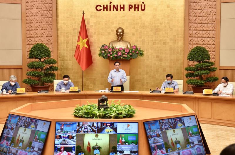 Thủ tướng Chính phủ Phạm Minh Chính phát biểu tại cuộc họp - Ảnh: VGP/Nhật Bắc