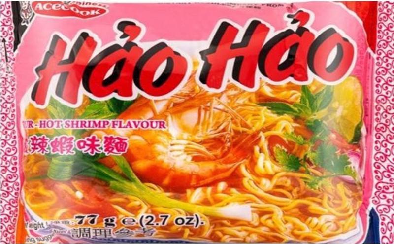Mì Hảo Hảo của Acecook Việt Nam, một trong hai loại sản phẩm đang bị FSAI thông báo thu hồi tại Châu Âu.