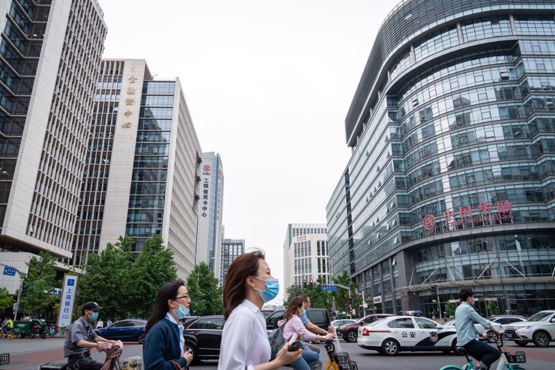 Trụ sở công ty quản lý nợ xấu Huarong ở Bắc Kinh, Trung Quốc - Ảnh: Bloomberg.