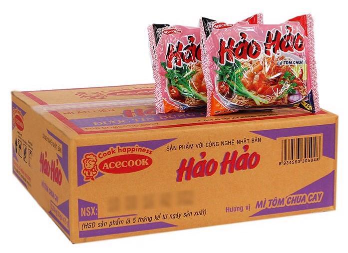 Mì tôm Hảo Hảo của Acecook Việt Nam.