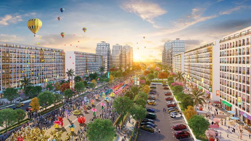 """Đại lộ trung tâm là """"chìa khóa"""" mang tới sự sầm uất của Sun Grand Boulevard."""