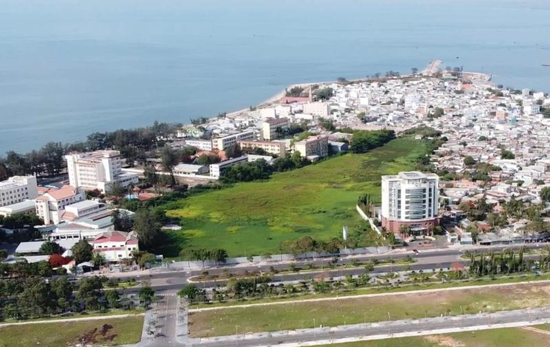 Vị trí khu đất trống sẽ thực hiện dự án Ocean Light Center Phan Thiết.