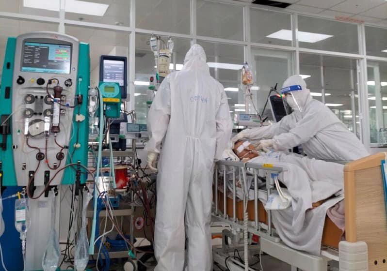 Bên trong Trung tâm Hồi sức tích cực của Bệnh viện Phổi Trung ương tại Đồng Nai.