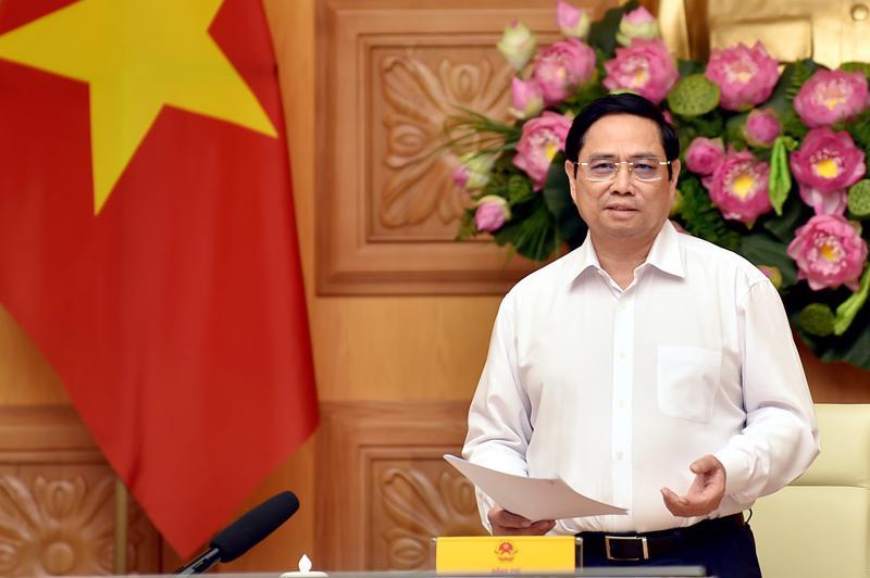 Thủ tướng Phạm Minh Chính phát biểu tại làm việc - Ảnh: VGP/Nhật Bắc