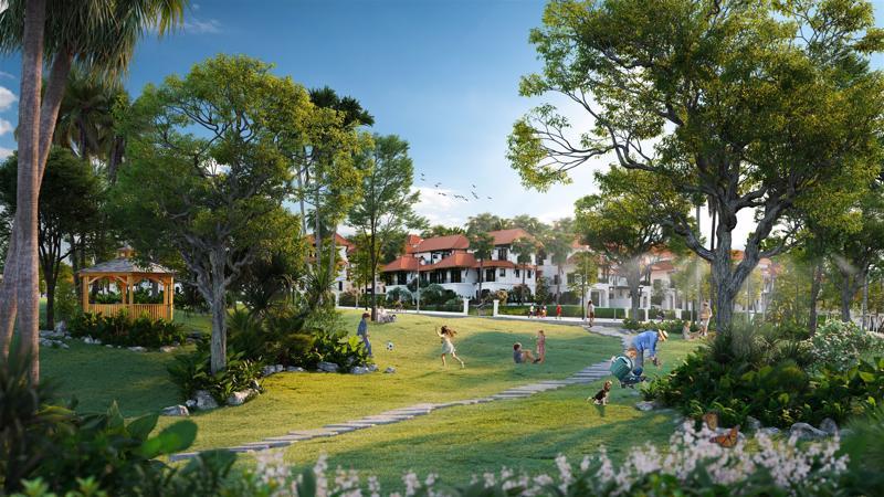 Phối cảnh biệt thự Sun Tropical Village - Dòng wellness second home tiên phong ở Nam Phú Quốc.