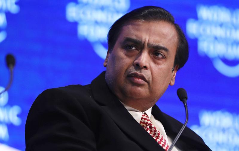 Tỷ phú Ấn Độ Mukesh Ambani - Ảnh: Bloomberg.