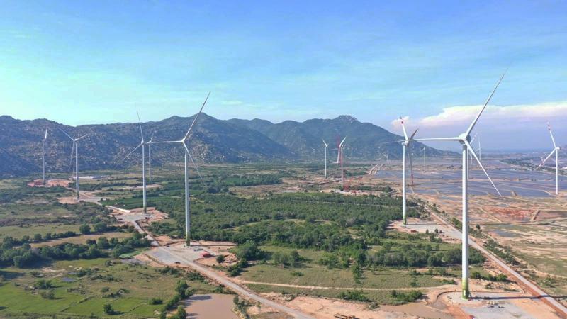 Nhà máy điện gió 7A tại xã Phước Minh, huyện Thuận Nam, tỉnh Ninh Thuận.