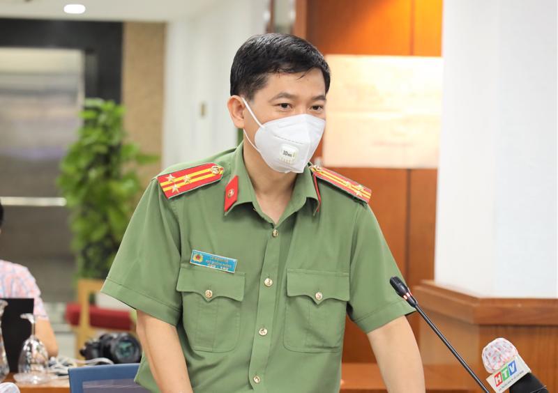 Phó Trưởng phòng tham mưu Công an TP.HCM Lê Mạnh Hà thông tin về việc gia hạn giấy đi đường sau 6/9.