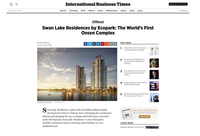 International Bussiness Times (Mỹ): The Landmark là tổ hợp khoáng nóng cao tầng đầu tiên trên thế giới.