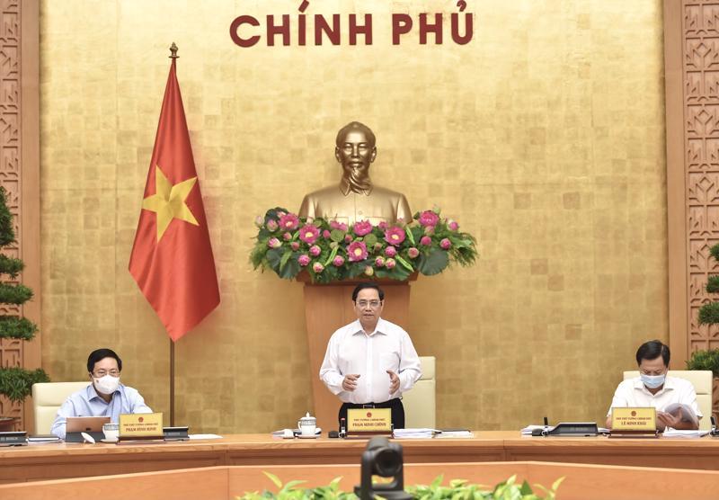 Thủ tướng Phạm Minh Chính phát biểu tại phiên họp - Ảnh: VGP