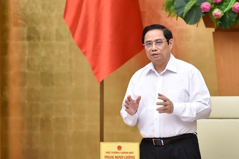 Thủ tướng Phạm Minh Chính phát biểu tại cuộc họp - Ảnh: VGP/Nhật Bắc.