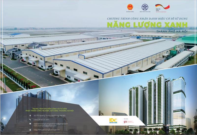 Chương trình công nhận danh hiệu cơ sở sử dụng năng lượng xanh thành phố Hà Nội.