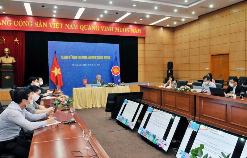 Hội nghị Hội đồng Khu vực mậu dịch tự do ASEAN lần thứ 35 (AFTA 35) đã diễn ra theo hình thức trực tuyến