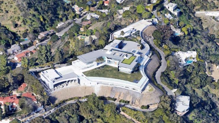 Dinh thự The One ở Bel Air - Ảnh: Google Earth/CNBC.