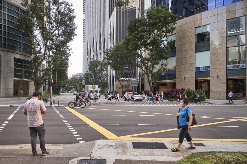 Đường phố Singapore hôm 6/9 - Ảnh: Bloomberg.