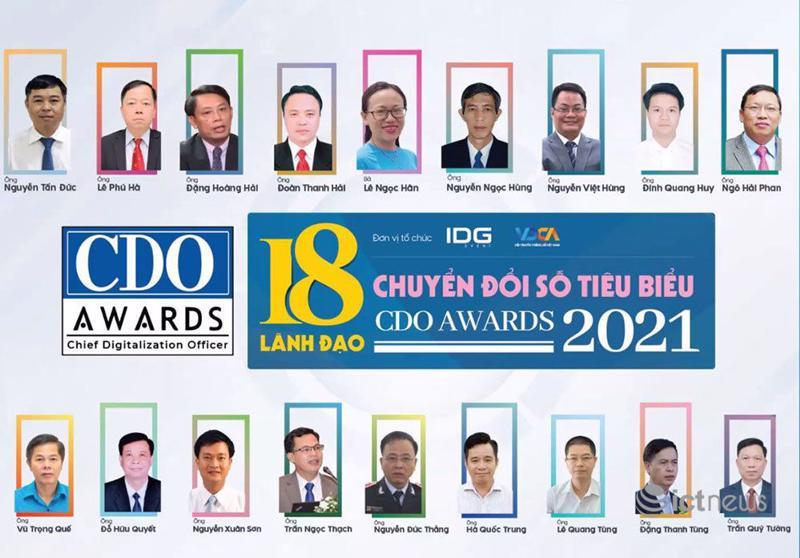 Vinh danh 18 lãnh đạo chuyển đổi số Việt Nam tiêu biểu năm 2021.