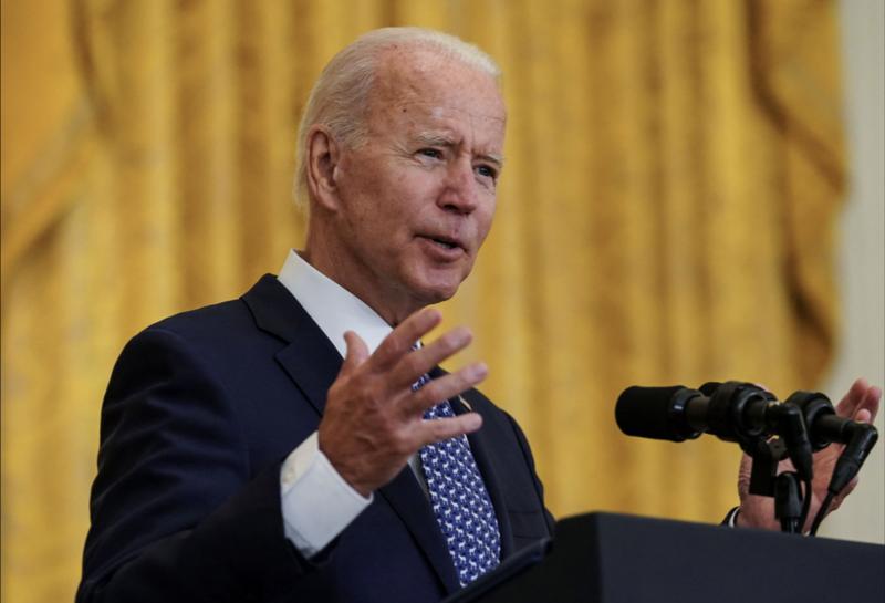 Tổng thống Mỹ Joe Biden phát biểu tại Nhà Trắng hôm 8/9 - Ảnh: Reuters.
