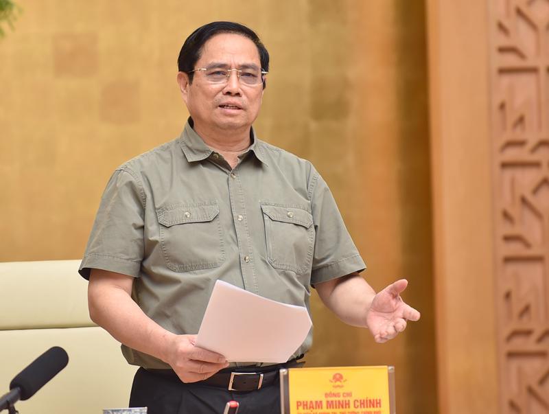 Thủ tướng Phạm Minh Chính tại cuộc họp sáng 11/9 - Ảnh: VGP