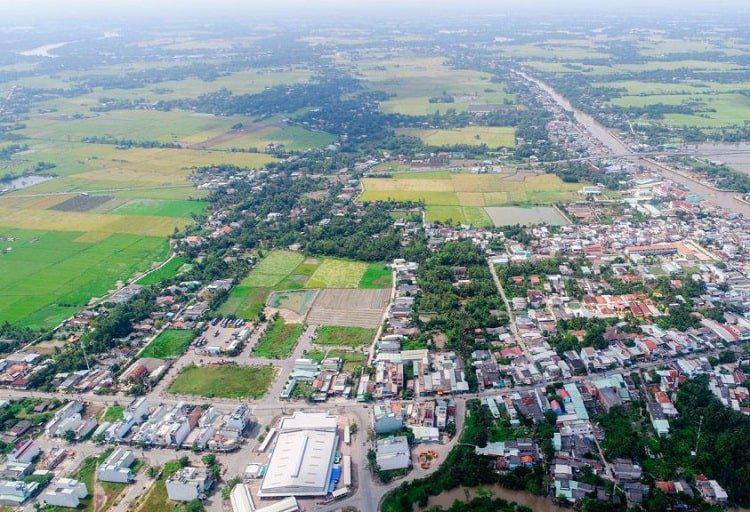 Địa bàn huyện Đức Hoà, tỉnh Long An.