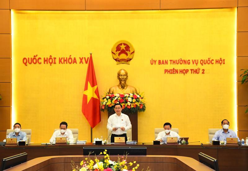 Phiên họp thứ 2 của Uỷ ban Thường vụ Quốc hội ngày 17/8/2021 - Ảnh: Quochoi.vn