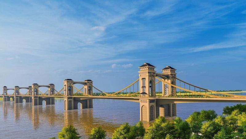Phối cảnh phương án kiến trúc của cầu Trần Hưng Đạo.