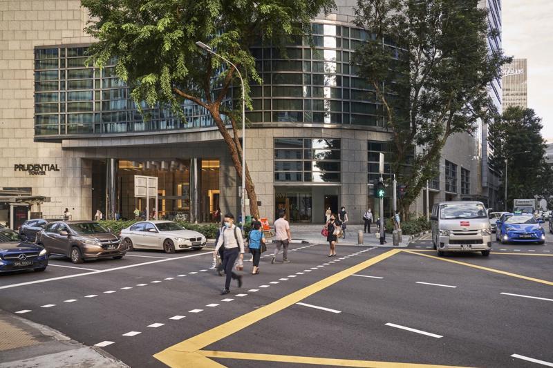 Đường phố ở quận trung tâm Singapore hôm 6/9 - Ảnh: Bloomberg.