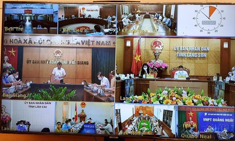 An online conference was held to promote agricultural product consumption.