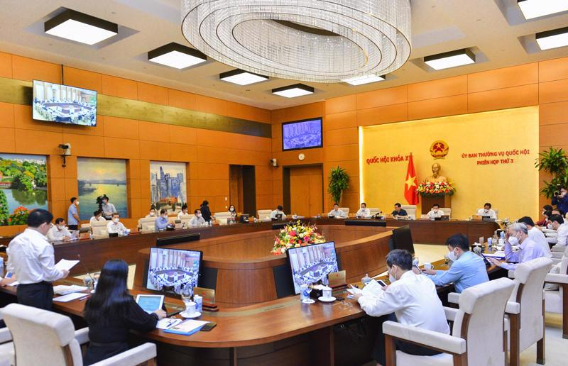 The meeting of the Standing Committee of the National Assembly. Source: Quochoi.vn