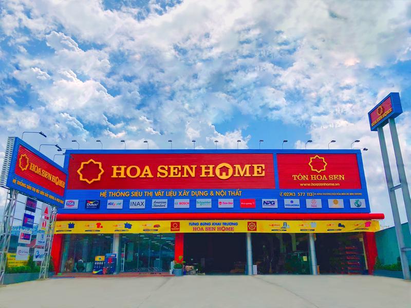 Hệ thống siêu thị vật liệu xây dựng và nội thất Hoa Sen Home.