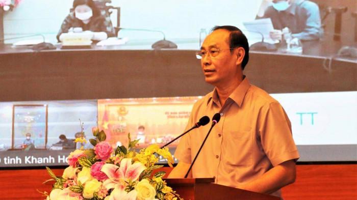 Thứ trưởng Bộ Giao thông vận tải Lê Đình Thọ phát biểu tại buổi lễ.