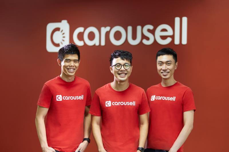 Ba nhà đồng sáng lập của Carousell - Siu Rui Quek, Marcus Tan và Lucas Ngo - Ảnh: Carousell