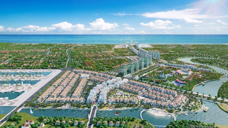 Phối cảnh hệ sinh thái du lịch nghỉ dưỡng tỷ đô đang được Sun Group kiến tạo tại Sầm Sơn.