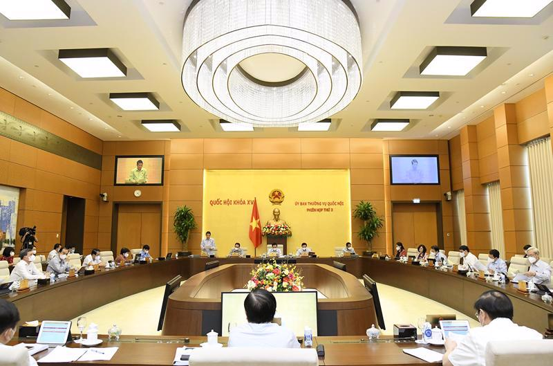 The third session of the National Assembly Standing Committee on September 16. Source: Quochoi.vn