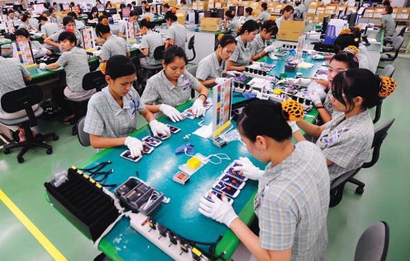 Linh kiện điện thoại di động chiếm tỷ trọng 50% tổng kim ngạch xuất khẩu của Việt Nam sang Quảng Đông.