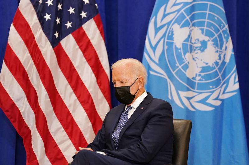 Tổng thống Mỹ Joe Biden tại một sự kiện của Đại hội đồng Liên hợp quốc - Ảnh: Reuters