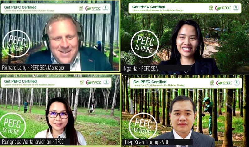 Hội thảo trực tuyến Quản lý bền vững rừng cao su và chuỗi hành trình sản phẩm.