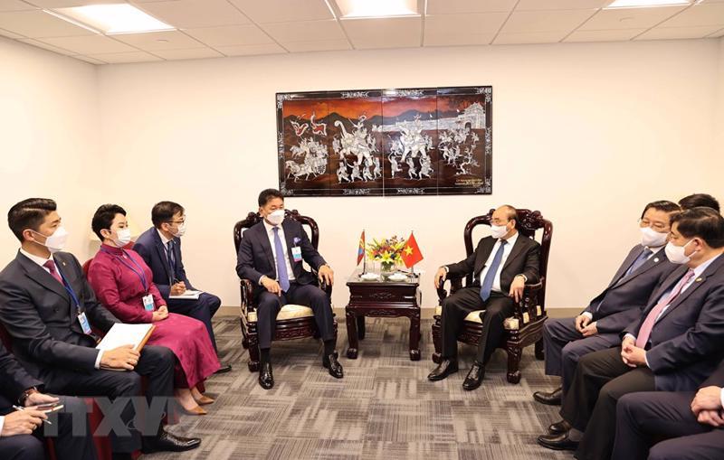 Chủ tịch nước tiếp Tổng thống Mông Cổ Ukhnaagin Khurelsukh - Ảnh: TTXVN