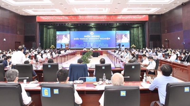 """Hội nghị """"Đối thoại doanh nghiệp"""" dành cho các doanh nghiệp trong nước và doanh nghiệp FDI."""