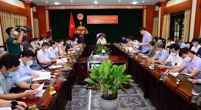Toàn cảnh phiên họp thường kỳ tháng 9 (lần 2) của UBND tỉnh Hải Dương.