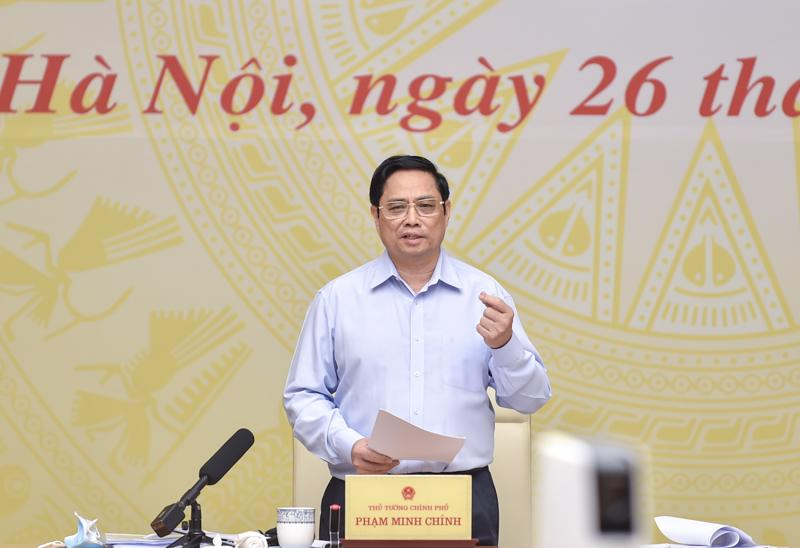 Thủ tướng Phạm Minh Chính phát biểu tại hội nghị - Ảnh: VGP