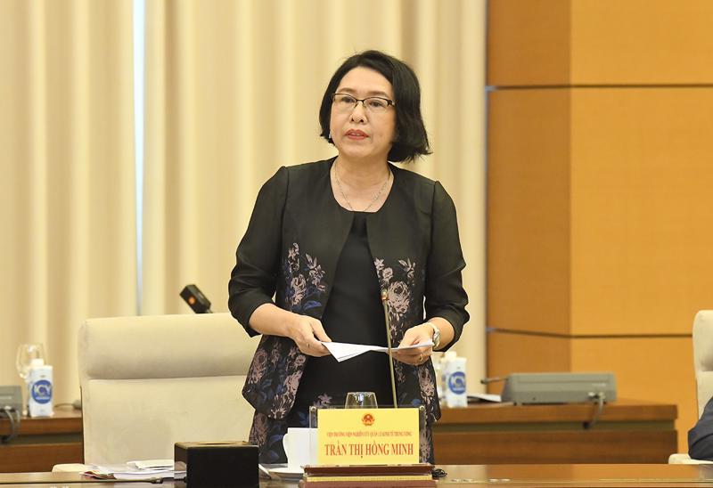 TS.Trần Thị Hồng Minh - Viện trưởng Viện Nghiên cứu quản lý kinh tế Trung ương - Ảnh: Quochoi.vn