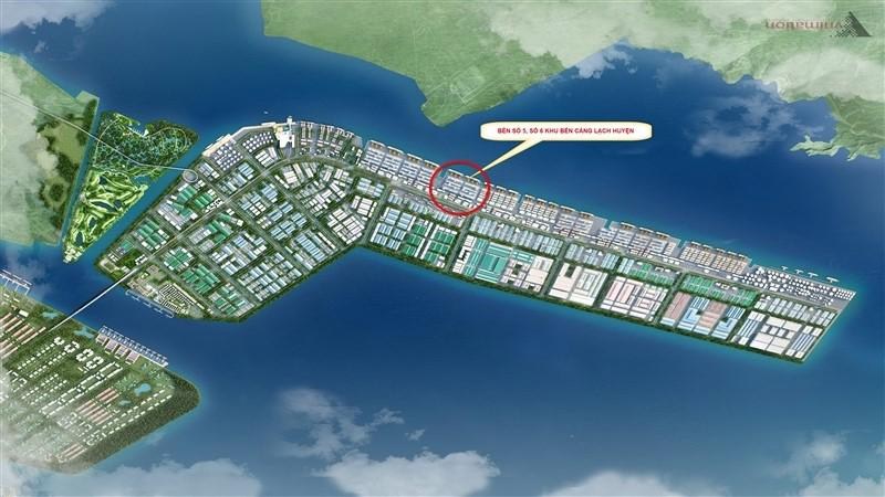 Dự án xây dựng Bến số 5, số 6 Khu bến cảng Lạch Huyện thuộc cảng biển Hải Phòng.