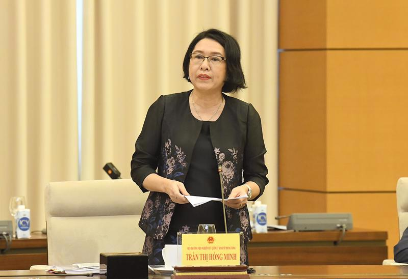 Ms. Tran Thi Hong Minh, Director of the Central Institute for Economic Management (CIEM). Source: Quochoi.vn